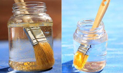 Для очистки инструмента хорошо подойдет ацетон