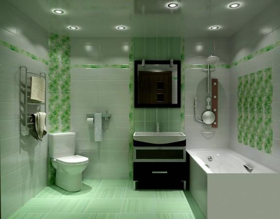 Для оформления ванной можно использовать различные технологии