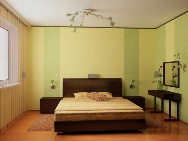 Для спален подходят холодные, пастельные и успокаивающие тона.