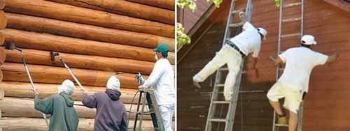 Два фактора – работа с краской и высота дома – определяют строгий подход к безопасности