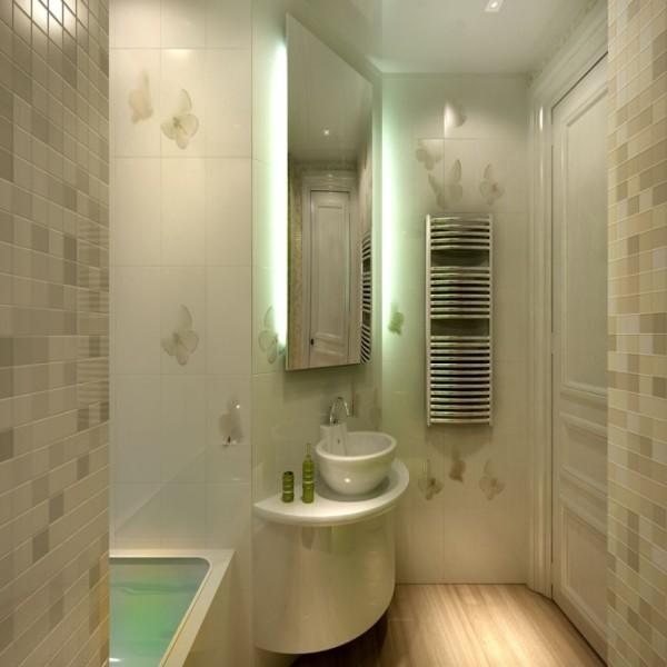 Эффектный дизайн ванной комнаты при помощи пластиковых панелей