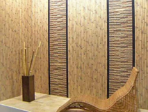 Экологически чистая бамбуковая облицовка стены