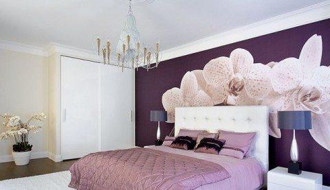 Элегантное сочетание фиолетового и белого