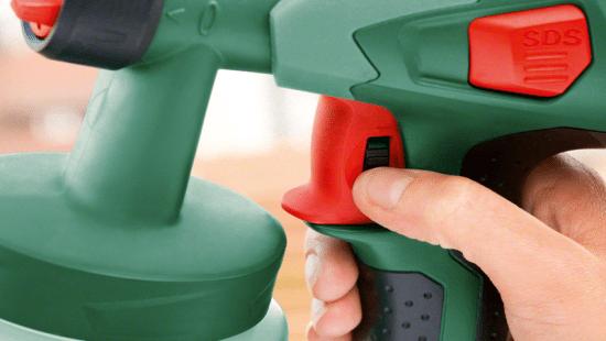 Электрический механизм, запускающий работу краскораспылителя
