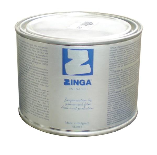 Электропроводная краска Zinga обеспечива6ет долговременную антикоррозийную защиту металла.