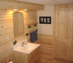 Если отделка данного помещения производится с помощью древесины, то материал нужно дополнительно защитить от воздействия влаги и лучше для этого применять специальную пропитку