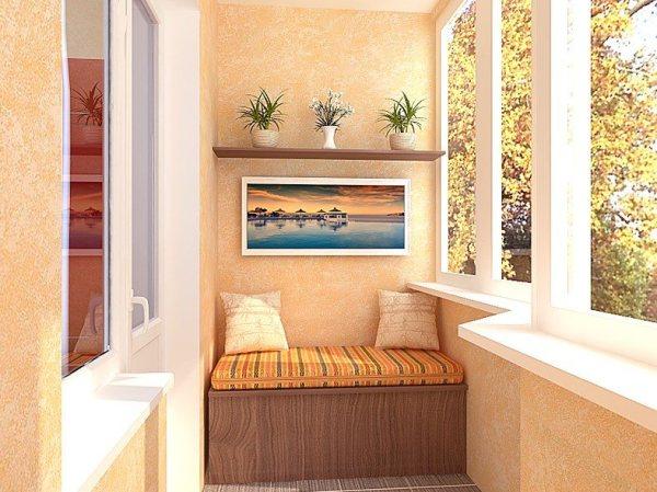 Если проявить фантазию, декоративная штукатурка на балконе своими руками может приносить просто блестящие результаты