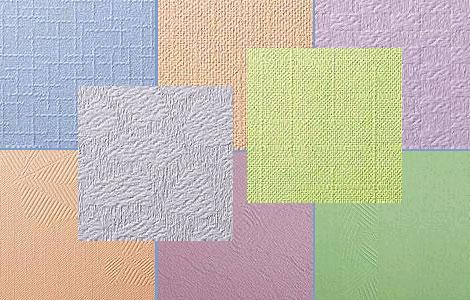Фактурное настенное покрытие из флизелина под покраску интерьерными красками.