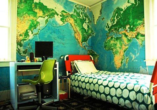 Флизелиновая облицовка подростковой спальни – интересное решение