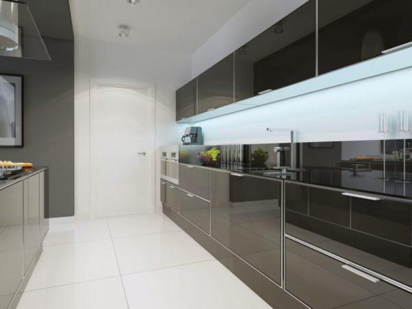 Глянцевые кухонные панели