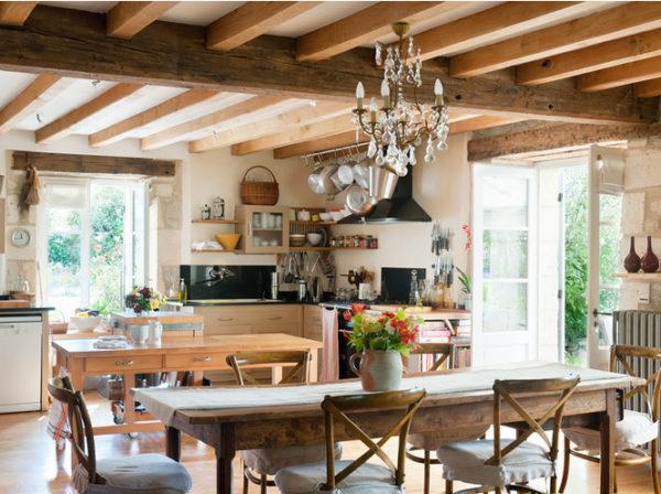 Кухня с использованием натуральных материалов