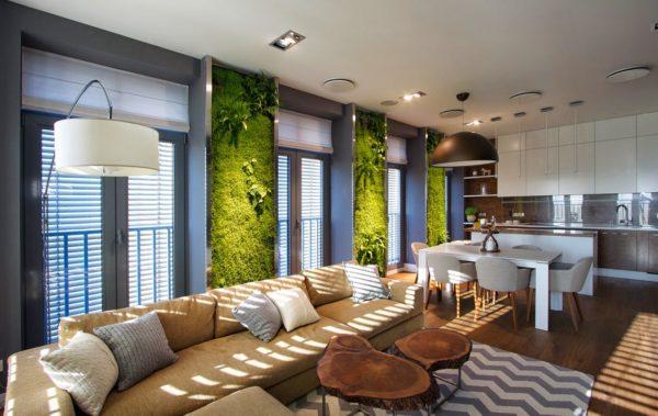 Вариант эко-стиля в квартире