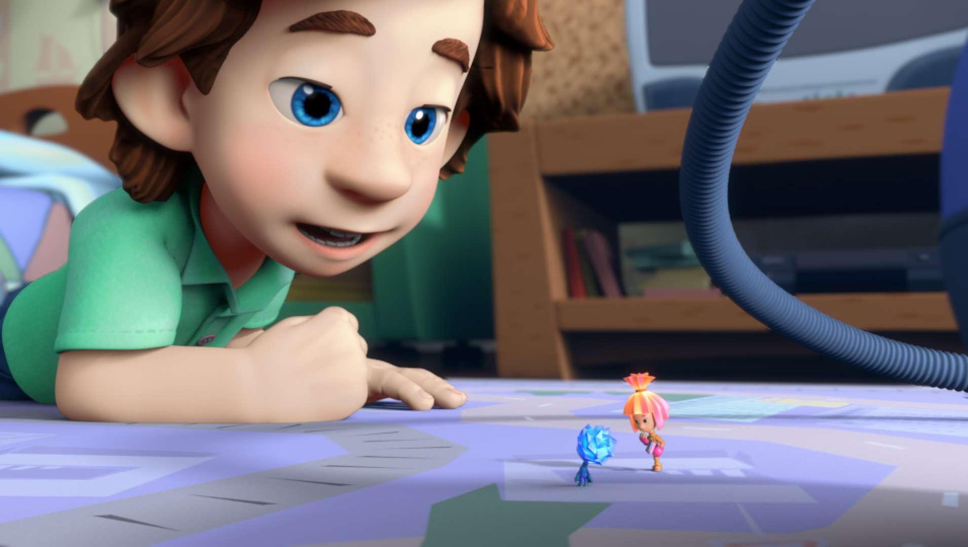 По сюжету мульта их видит только один мальчик: можно придумать вместе с ребенком, что и в Вашем пылесосе живут фиксики, и они сегодня будут пылесосить вместе с тобой!