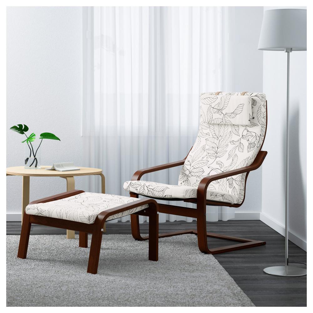 Это кресло с замысловатым названием входит в топ-5 самых продаваемых товаров Икеа. Стильное, удобное, устойчивое, и, конечно же, простое в уходе - обивка кресла легко снимается и стирается в машинке. На фото изображено с подставкой для ног, которая приобретается отдельно, но стоит недорого.