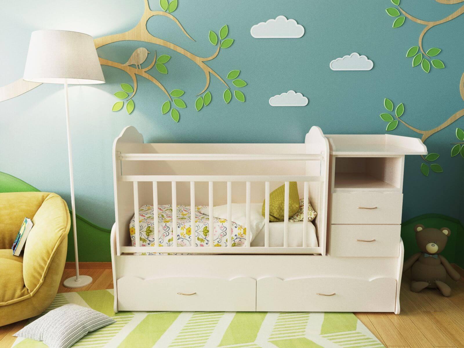 Кровать для маленького ребенка должна быть сделана так, чтобы он не мог самостоятельно из нее выбраться. Проход к спальному месту должен быть удобным со всех сторон. На корпусе кровати не должно быть мелких декоративных элементов, чтобы ребенок не оторвал их и не проглотил. Кровать должна быть снабжена бортиками, они защитят ребенка от падения и дадут ему чувство защищенности. Хорошо, если у кровати не будет острых углов,чтобы,когда малыш начнет делать первые шаги, онне травмировался.