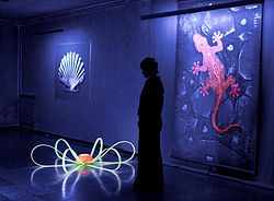 Фосфоресцирующие краски – как дальнейшее развитие идеи росписи по стеклу