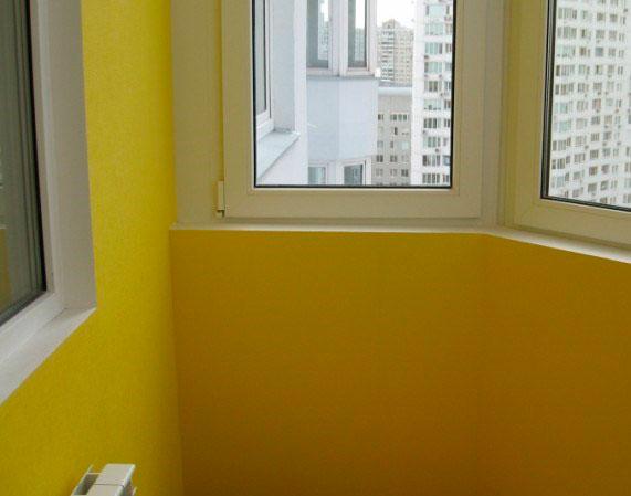 Фото балкона, отделанного гипсокартоном.