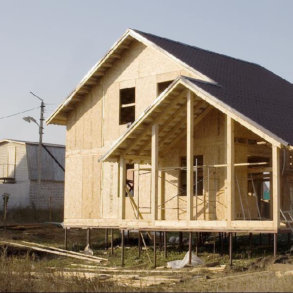 Фото дома с винтовым фундаментом без отделки