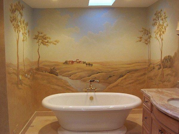 Фото эксклюзивной покраски стен.