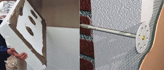 Фото и схема устройства теплоизоляционной штукатурки
