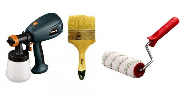 Фото инструментов подходящих для нанесения грунтовки
