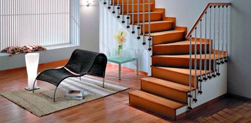 Фото качественно отделанной лестницы