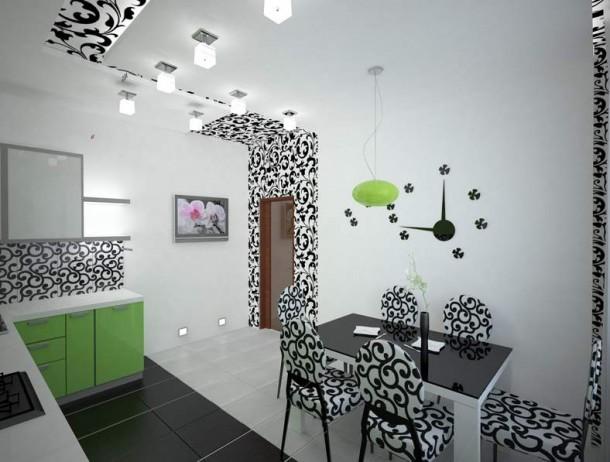 Фото комбинированной кухни.