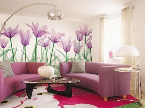 Фото: крупные цветочные мотивы создадут неповторимую атмосферу