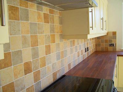 Фото кухонного фартука из кафельной плитки