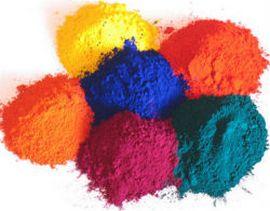 Фото образцов цветовых пигментов