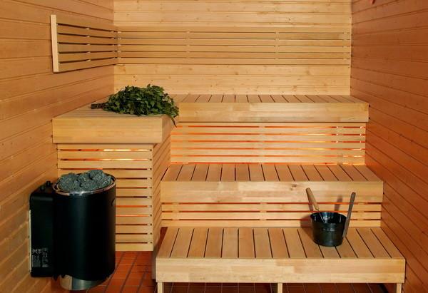 Фото парилки в современной бане.