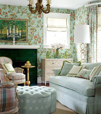 Фото: пример оформления стен в английском стиле