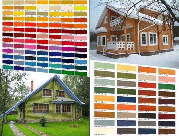Фото-примеры вариантов отделки строений