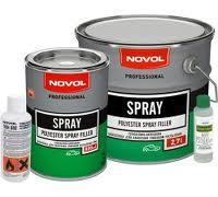 Фото шпатлевки марки Novol, которая отлично себя зарекомендовала в строительстве.