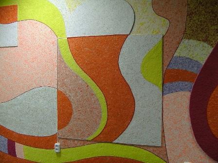 Фото жидких обоев разного цвета на одной стене