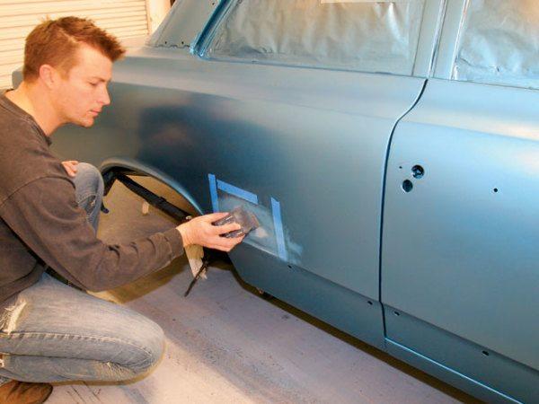 Фрагментарный ремонт двери.
