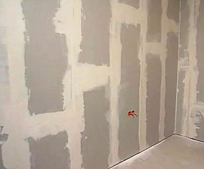 Гипрок отличается от обычной бетонной стены структурой поверхности