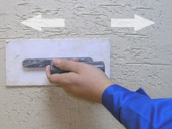 Горизонтальная затирка и узоры, получающиеся при ее применении