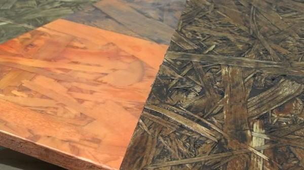 Готовая обработанная поверхность плиты ОСБ