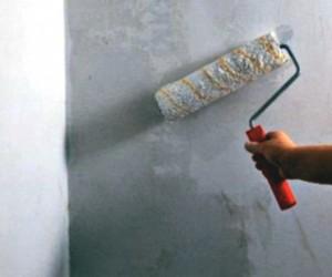 Грунт на бетон удобнее наносить валиком