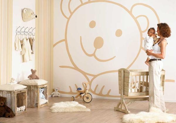 Характер обоев в детской комнате во многом зависит от возраста хозяина комнаты – на самой ранней стадии можно использовать такие