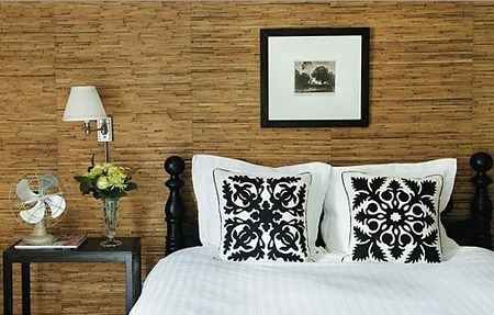 Интерьер с бамбуковыми обоями