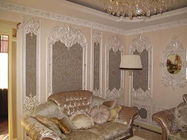 Интерьер в стиле рококо.