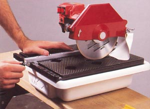 Использование электрического станка для резки плиточных изделий
