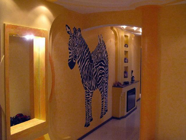 Использование фото животных в отделке стен