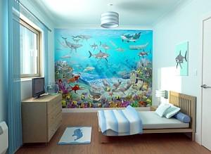 Использование фотообоев для создания центрального элемента интерьера помещения