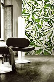 Использование картин или панорам с ярко выраженными зелеными цветами для создания определенных зон в помещении