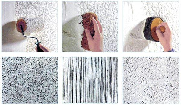Использование методик нанесения некоторых видов шпатлевки также могут применяться и для работы с краской, но при этом необходимо учитывать, что расход материала будет намного выше, а создаваемый рельеф не будет иметь высокой глубины