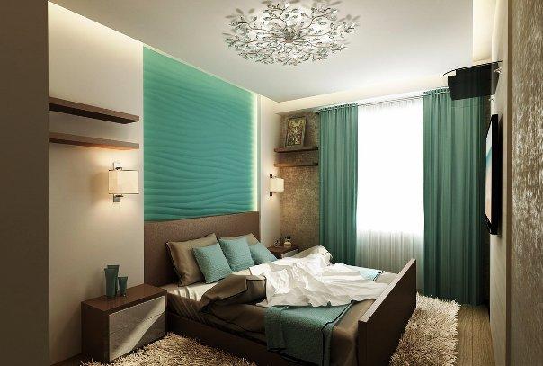 Использование подобной расцветки для организации определенного сочетания штор, предметов интерьера и покрытия стен