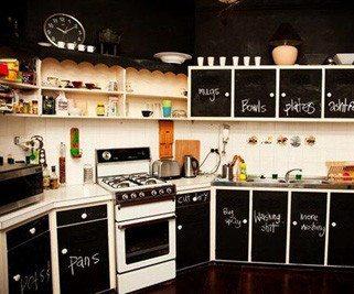 Использование подобных дизайнерских решений для оформления кухонных стен и даже мебели